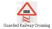 Guarded railway crossing